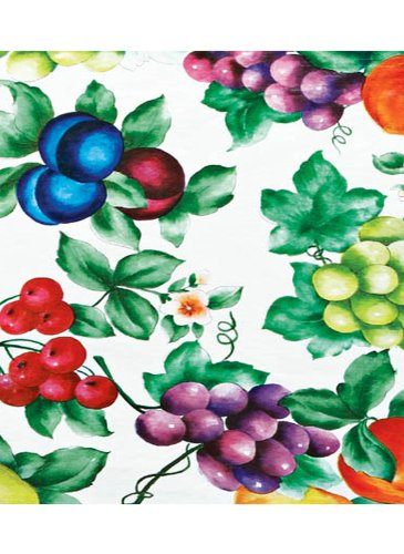 - Carol Wright Gifts Patterned Fitted Vinyl Tablecloths