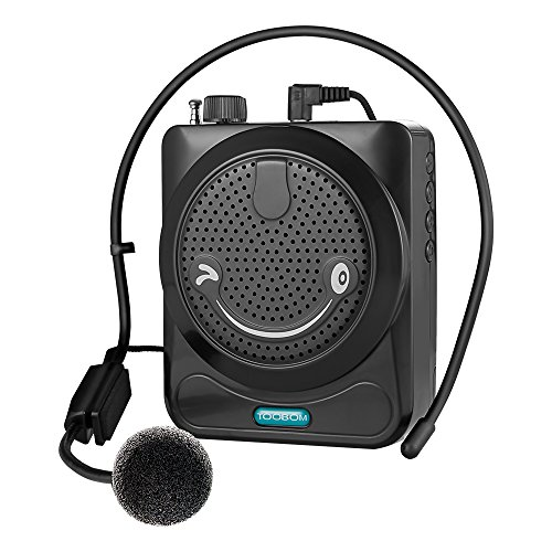 Voice Amplifier Project Clear Voice, TOOBOM 1800mAh Portable Voice Amplifier Speaker with FM Radio Support USB TF Card Ideal PA System Loudspeaker for Coach Teacher Tour Guide