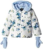 Rothschild Little Girls' Floral Printed Puffer Coat Toddler