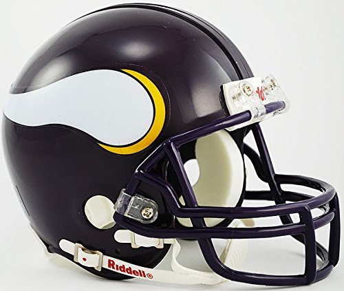 Riddell NFL Minnesota Vikings 1983-2001 Throwback Replica Vsr4 Mini Football Helmet