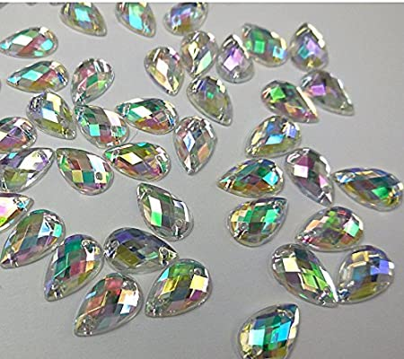 100pcs Piedra acrilica Redonda Diamante para Manualidades Coser DIY Vestido Ropa
