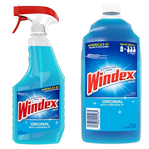 Price comparison product image Windex Original Glass Cleaner Pack,  Refill 67.6 fl oz + Trigger 23 fl oz