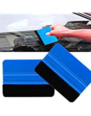 Jujudada 2pcs Car Window Scraper Felt Edge Wrap Scraper Squeegee For Car Auto Vehicle Window Film
