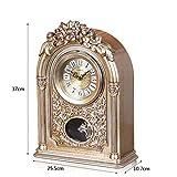 LANNA SHOP- European Vintage Retro Mantel / Mantle Rhythm Clock with Pendulum Movement