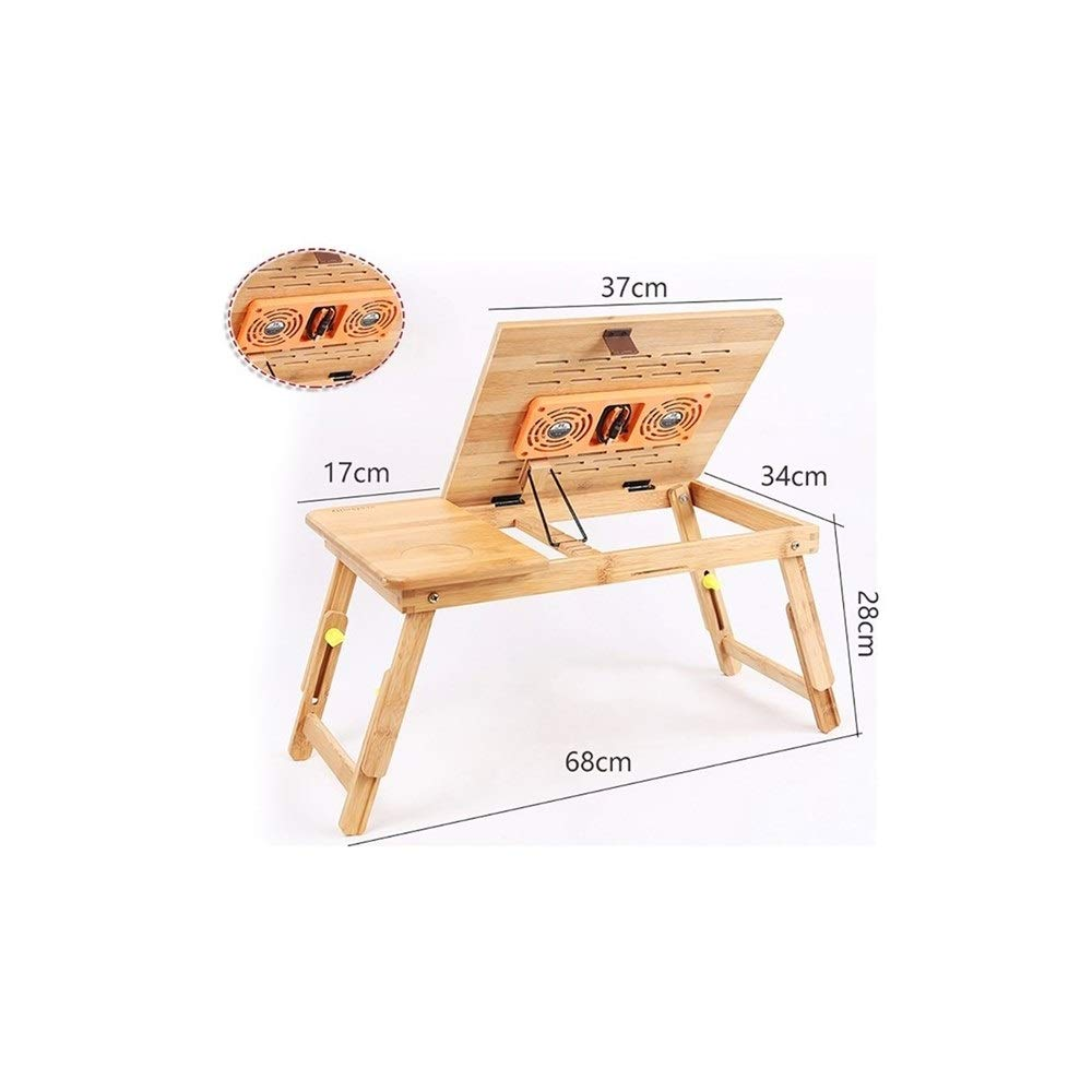 7  Laptop Table Solid Wood Collapsible Lift Computer Desk, Easy Learning Desk, Multi-Functional Desk, Support (Size   9 )