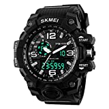 Tradekmk Men's Sports Watch LED Digital Military Watches Waterproof Casual Stopwatch Alarm Army Watch