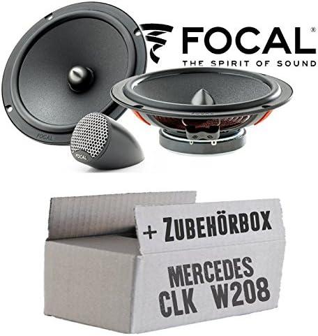 Lautsprecher Boxen Focal Isu165 16cm 2 Wege System Auto Einbauzubehör Einbauset Für Mercedes Clk W208 Front Just Sound Best Choice For Caraudio Navigation