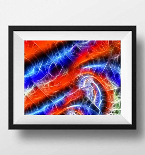 Amazon.com: Work of Kolors - fine art abstract art print, red orange ...