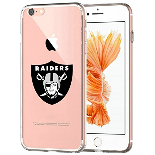 Raiders iPhone 7 Slim Fit Silicone Flexible Case, Transparent Protective Soft Back Cover with Slim Protection and Premium Clarity for Apple iPhone 7- Crystal Clear Raiders Crystal
