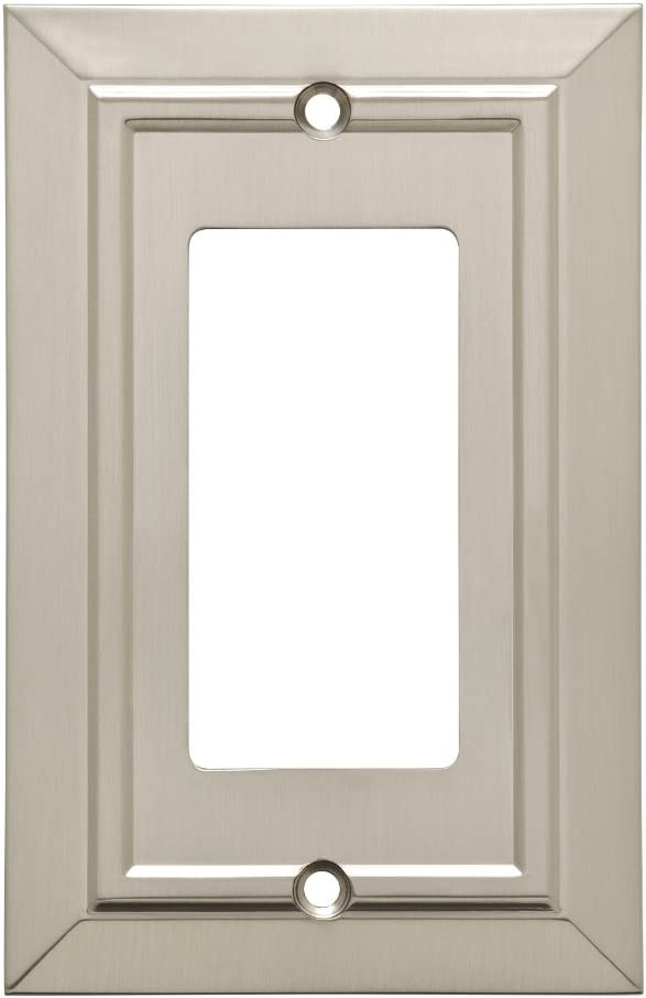 Franklin Brass W35219-SN-C Classic Architecture Decorator Wall Switch Plate/Cover, Single, Satin Nickel