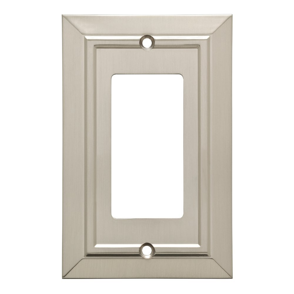 Franklin Brass W35219-SN-C Classic Architecture Decorator Wall Plate/Switch Plate/Cover, Single, Satin Nickel