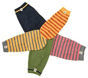 West Paw Design Reknitz Reclaimed Cotton Dog Sweater, Tangerine Stripe - Size 22