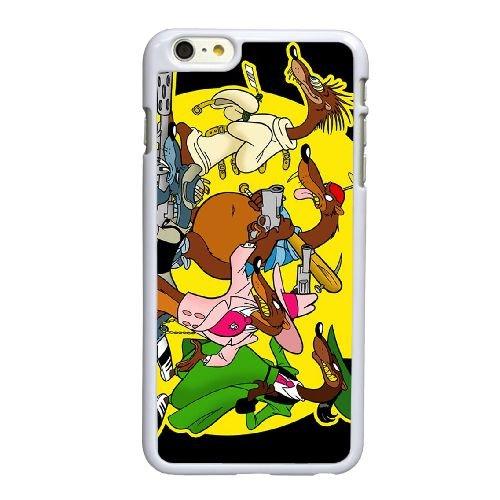 P5Y24 Disney Who Framed Roger Rabbit caractères gras l'coque iPhone Weasel L4E9LL 6 4.7 pouces cas de couverture de téléphone portable coque blanche WU3GIP5GK