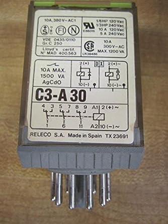 Amazon.com: releco c3-a-30 Relay c3 a30 ch-3076: Industrial ...