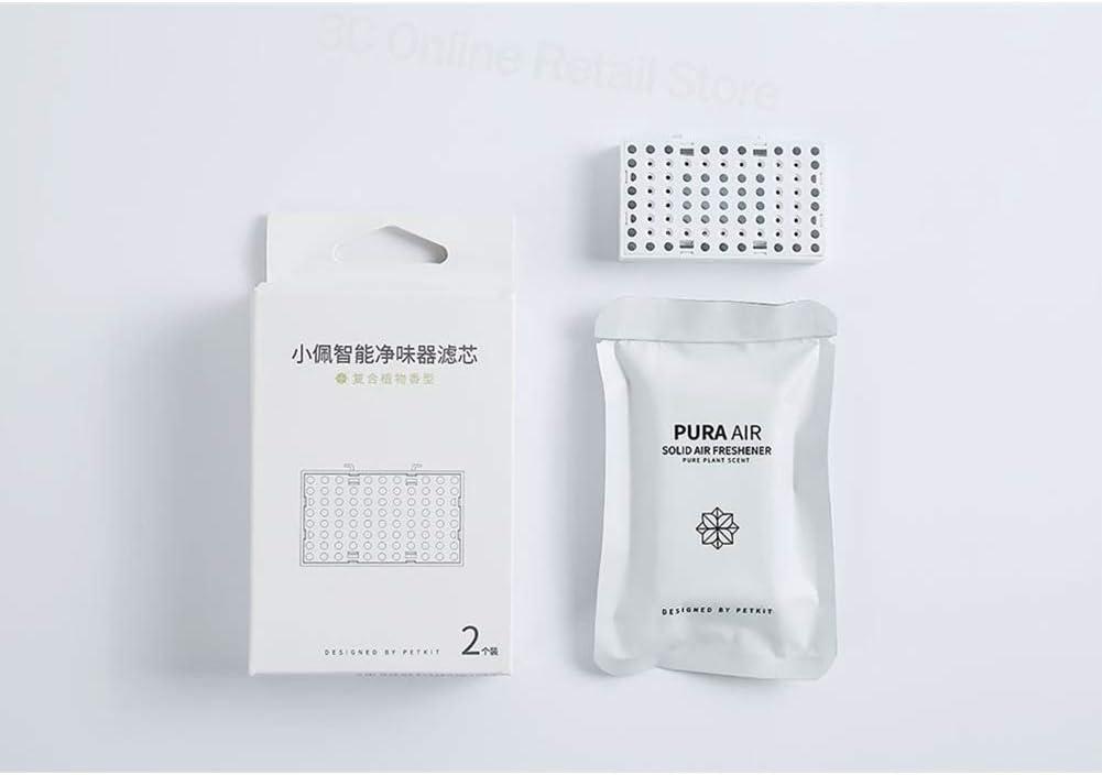 DishyKooker Home Xiao-mi Mi-jia PET-KIT Smart Pet Deodorizer Air Indoor Odor Removal Pet Dog Urine Smell Cat Litter Purifier Smart Purifier Filter Pack of 2 Convenient Items