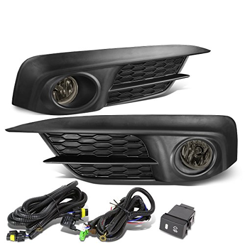 For Honda Civic FC Pair of Bumper Driving Fog Lights + Wiring + Switch (Smoked - Headlight Smoked Kit Sedan