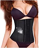 Gotoly Waist Trainer Shapewear Weight Loss Workout Belt Tummy Fat Burner (Black, L Fits US 14)