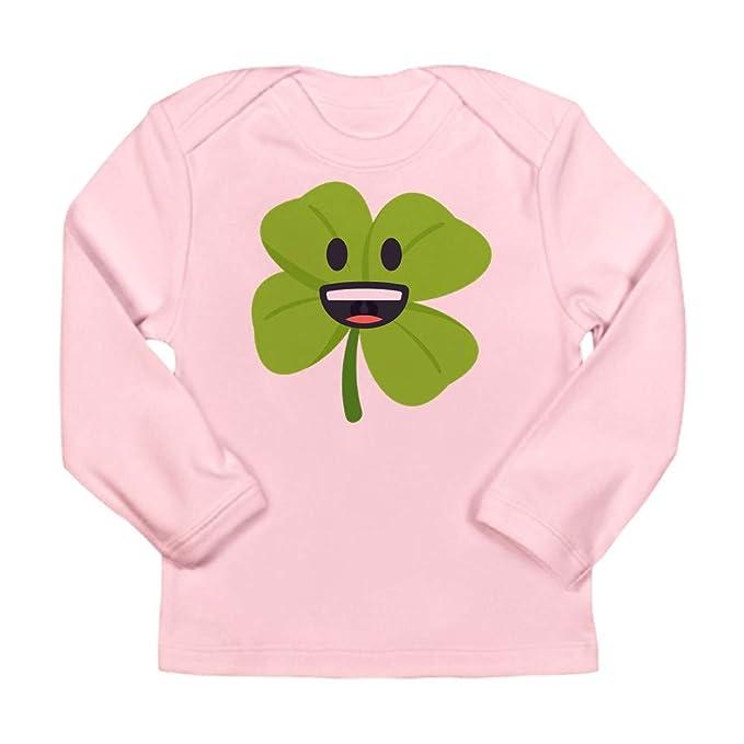 638965509 Amazon.com: CafePress Shamrock Face Long Sleeve Infant T Shirt Long ...