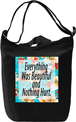Everything Was Beautiful Borsa Giornaliera Canvas Canvas Day Bag| 100% Premium Cotton Canvas| DTG Printing|