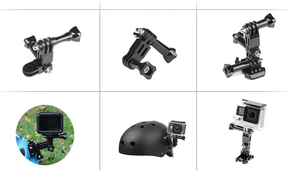 Action Camera Helmet Tripod Mounts for GoPro Hero 7 5 6 Xiaomi Yi 4K SJCAM SJ4000 SJ5000 SJ7 h9 Go Pro 6 7 Accessories Set