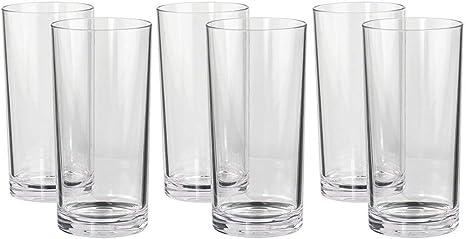 6 Pack Long Plastic Tumblers Birthday Party Reusable Plastic Glasses