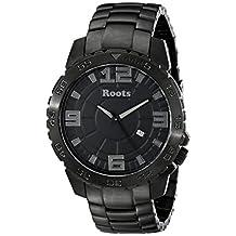 Roots Men's 1R-LF602BA0 South Tea Analog Display Japanese Quartz Black Watch