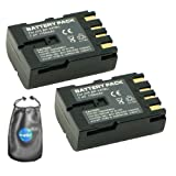amsahr ValuePack (2 Count): Digital Replacement Camera and Camcorder Battery for JVC BN: V408, V408-H, V408U, V416, V416-H, V416U, V428, V428U, V438U, CU-VH1, D30U - Includes Lens Accessories Pouch