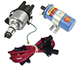 SCREAMER KIT RED, WITH EMPI 9441-B ELECTRONIC 009 DISTRIBUTOR & BOSCH BLUE COIL, FOR VW BUG, BEETLE, GHIA, BUS, TYPE 3
