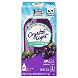 Crystal Light Drink Mix, Grape With Caffeine, On The Go Packets, 10 Count (Pack of 12 Boxes)