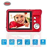 Mini Digital Camera with 2.7 Inch TFT LCD Display, Digital Video Cameras Students Cameras (Red)