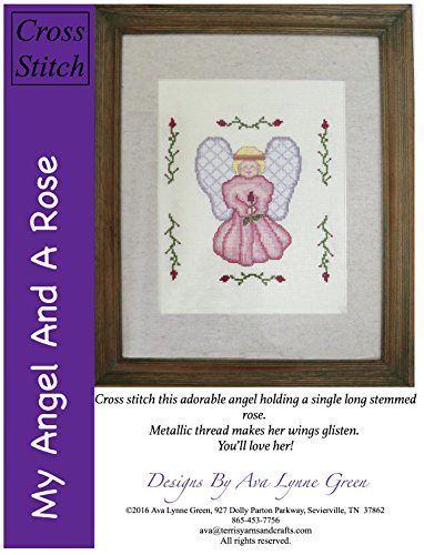 Amazon com: My Angel And A Rose: Counted Cross Stitch