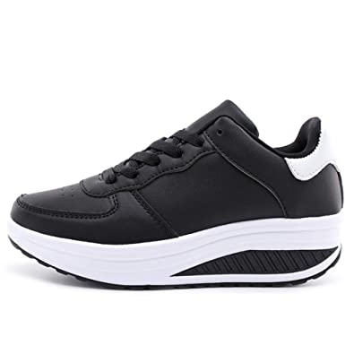 Amazon.com | JOYBI Womens Casual Wedges Shoes Waterproof Comfort Lace Up Non Slip Trainers Fashion Platform Sneakers | Fashion Sneakers