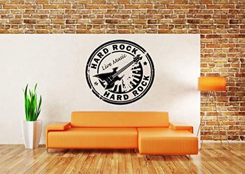 Vinyl Sticker Hard Rock Live Music Logo Sign Stamp Guitar Cafe Bar Poster Stars Band Musician Mural Decal Wall Art Decor SA1984 (Hard Rock Cafe Sticker)