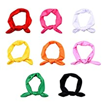 niceEshop(TM) 8x Baby Girl Elastic Turban Headbands Head Wrap Rabbit Ear Hair Band