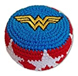 Super Hero Embroidered Hacky Sack Footbag FB44 - Wonder Woman Logo by Adventure Trading