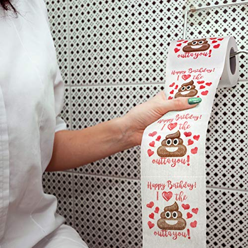 Maad Romantic Birthday Novelty Toilet Paper – Funny Gag for Him or Her