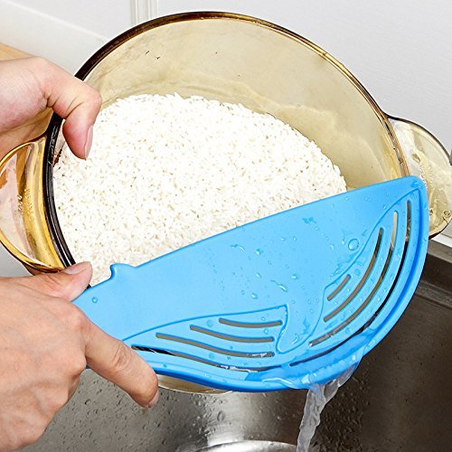 High-Season Creative Whale Shaped Plastic Pot Strainer Rice Fruit Vegetable Wash Colanders Kitchen Gadgets Accessories