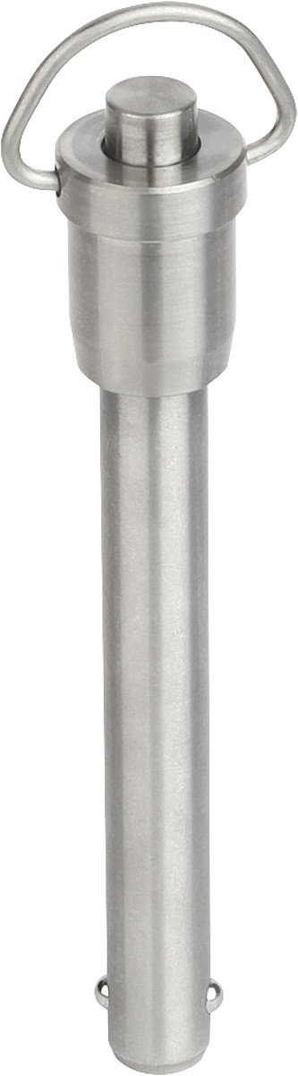 Tilt ball locking pin with ring clip stainless steel lock nut, D1 = 6, L = 30 mm, 1 Piece, k0746.01506030