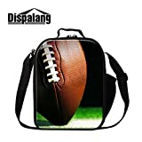 Generic Football 3D Print Lunch Bags for School Soccer Cooler Bags Children insulated Lunch Container