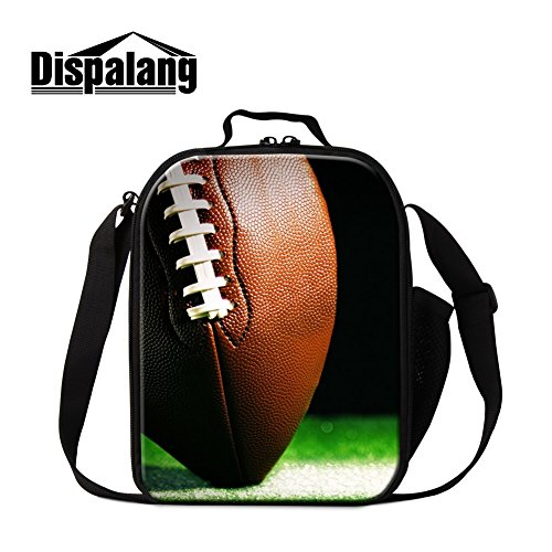 Generic Football 3D Print Lunch Bags for School Soccer Cooler Bags Children insulated Lunch Container by GIVE ME BAG