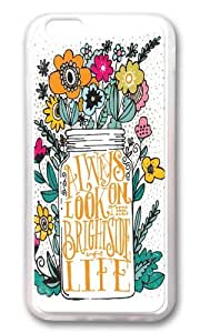 Apple Iphone 6 Case,WENJORS Awesome ALWAYS LOOK ON THE BRIGHT SIDE Soft Case Protective Shell Cell Phone Cover For Apple Iphone 6 (4.7 Inch) - TPU Transparent