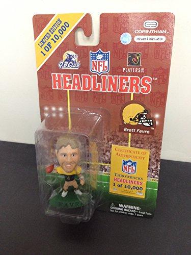 Limited Edition 1997 Brett Favre Green Bay Packers Southern Miss NFL Football Figure by Headliners (Favre Brett Figurine)