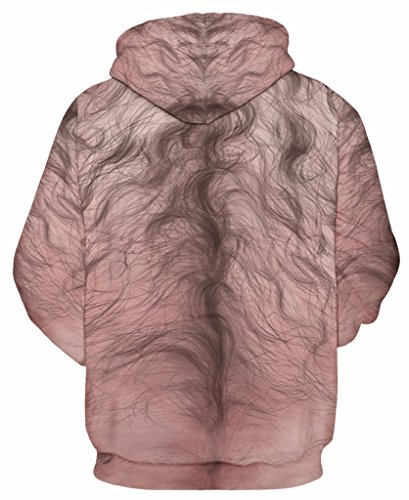 Pretty321 Women Girl Funny Trap Digital Print Hoodie Sweatshirt Collection Unisex Hairy Print Body