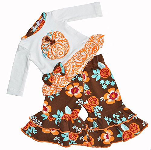 AnnLoren Pumpkin Patch Autumn Floral Thanksgiving Set fits AG and 18 inch Dolls (American Girl Doll Jess)
