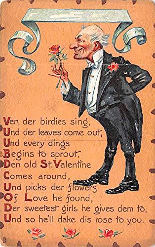 Valentines Day Post Card Old Vintage Antique Raphael Tuck & Sons Leatherette Series Unused