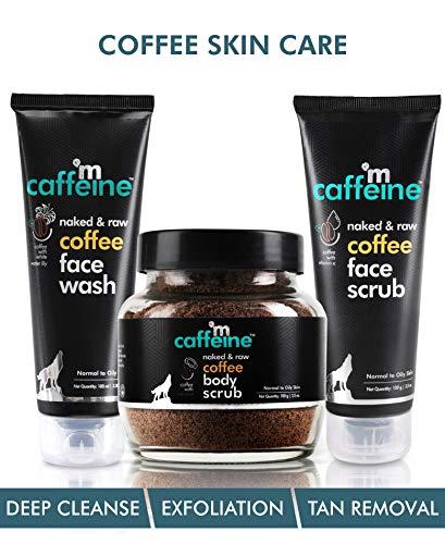 mCaffeine Complete Coffee Skin Care Combo Face wash(100ml),Body scrub(100gm),face scrub(100gm)| Exfoliation, Tan Removal…