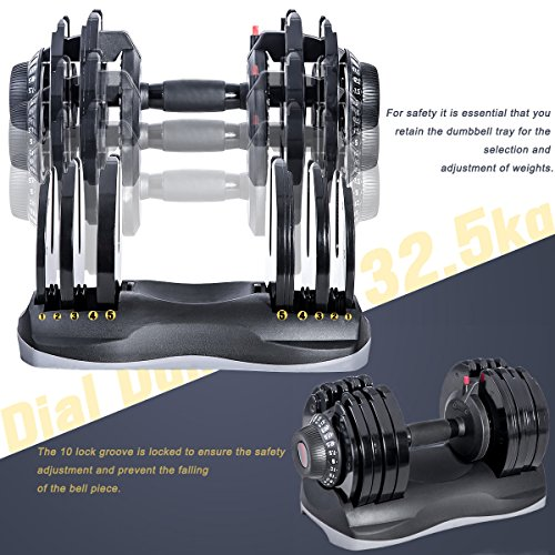 Merax Deluxe 71.5 Pounds Adjustable Dial Dumbbell (Pair. Set) by Merax (Image #2)