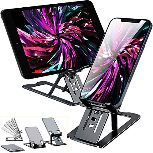 Cell Phone Stand,Bimawen Foldable Aluminum Alloy Ultra Slim Cell Phone Holder for Desk,or Device from 3