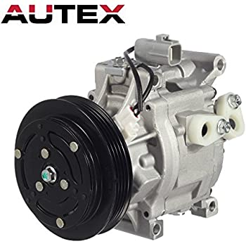 AUTEX AC Compressor and A/C Clutch CO 11063AC 8832052010 Replacement for 2000 2001 2002 2003 2004 2005 Toyota Echo 1.5L