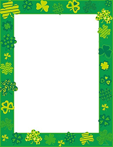"Great Papers! Shamrock Shake Letterhead, 80 Count, 8.5""x11"" (2015019)"